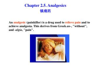 Chapter 2.5. Analgesics 镇痛药