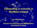 Computing in schools in Northern Ireland