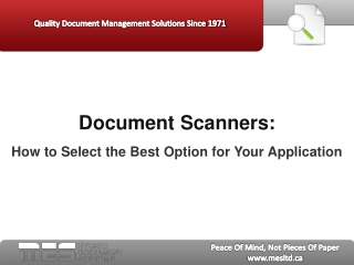 Document Scanners: How to Select the Best Option for You