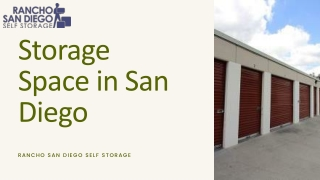 Best Storage Space in San Diego- RSD Storage