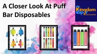 A Closer Look At Puff Bar Disposables