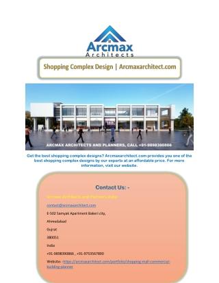 Shopping Complex Design   Arcmaxarchitect.com
