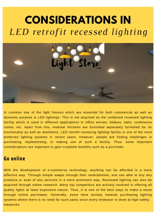 Considerations in LED Retrofit Recessed Lighting