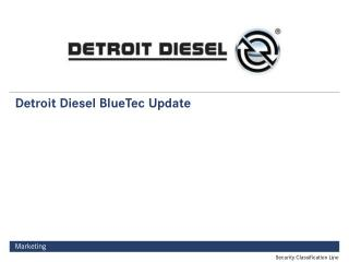 Detroit Diesel BlueTec Update