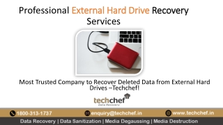 Professional External Hard Drive Recovery services from Techchef data recovery.