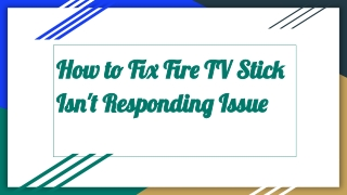 Amazon Fire Stick Customer Service