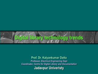 Digital library technology trends