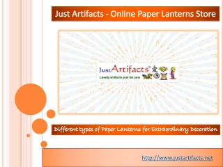 Just artifacts - Online Paper Lanterns Decor Store