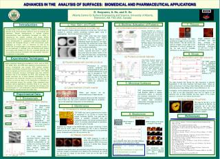 ADVANCES IN THE ANALYSIS OF SURFACES:  BIOMEDICAL AND PHARMACEUTICAL APPLICATIONS