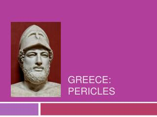 Greece:  Pericles