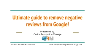 Ultimate guide to remove negative reviews from Google!