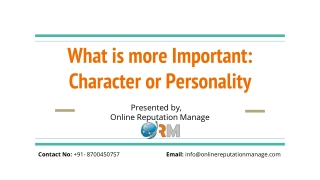 What is more Important_ Character or Personality