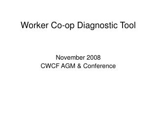 Worker Co-op Diagnostic Tool