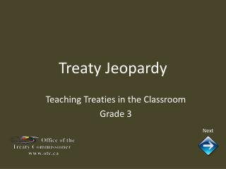 Treaty Jeopardy