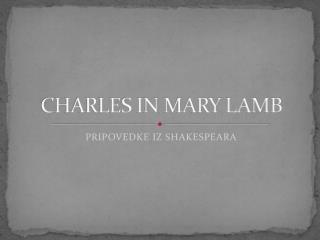 CHARLES IN MARY LAMB