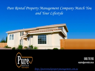 Pure Rental Property Management Company Match You and Your L