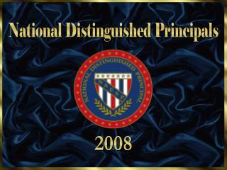 National Distinguished Principals