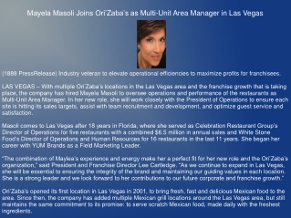 Mayela Masoli Joins Ori'Zaba's as Multi-Unit Area Manager in Las Vegas