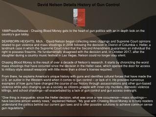 David Nelson Details History of Gun Control