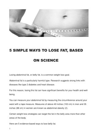 5 Ways To Lose Fat, Backed By Science