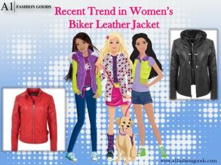 Recent Trend in Women's Biker Leather Jacket