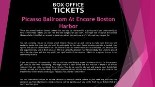 Picasso Ballroom At Encore Boston Harbor