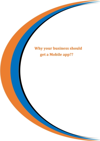 Why your business should get a Mobile app??