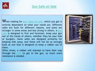 Gun safe on sale