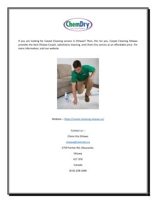 Carpet Cleaning | Carpet Cleaning Ottawa