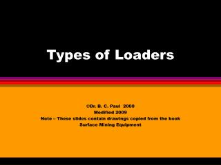 Types of Loaders