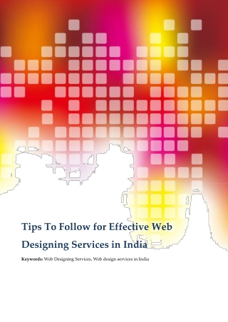 Important Tips To Consider for Effective Web Designing Services in India