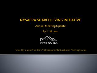 Funded by a grant from the NYS Developmental Disabilities Planning Council