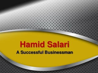 Hamid Salari A Successful Businessman