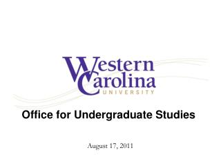 Office for Undergraduate Studies