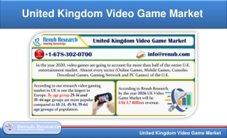 United Kingdom Video Game Market will be US$ 3.7 Billion by 2026