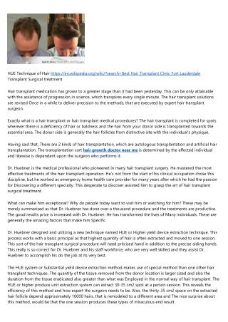 Fort Lauderdale Hair Transplant Price