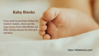 Baby Blanks