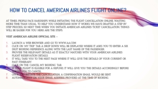 How to cancel American Airlines Flight Online?