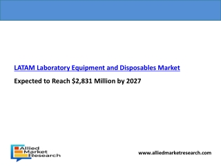 LATAM Laboratory Equipment and Disposables Market Expected to Reach $2,831 Million by 2027