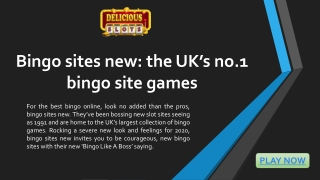 Bingo sites new: the UK's no.1 bingo site games