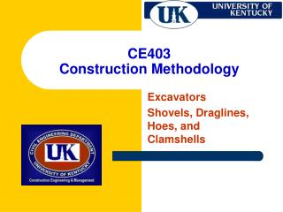CE403 Construction Methodology