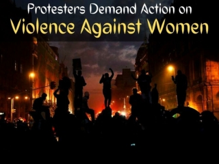 Protesters demand action on violence against women