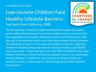 CHILDREN'S FACT  SHEET