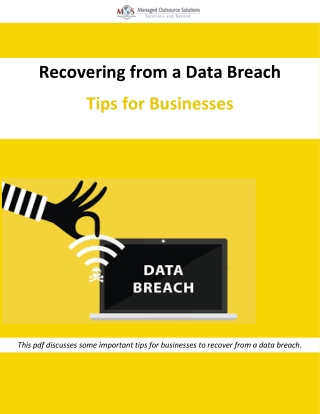 Recovering from a Data Breach – Tips for Businesses