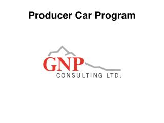 Producer Car Program