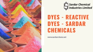 Dyes - Reactive Dyes - Sardar Chemicals