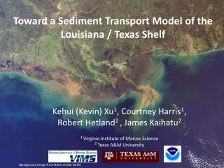 Toward a Sediment Transport Model of the Louisiana