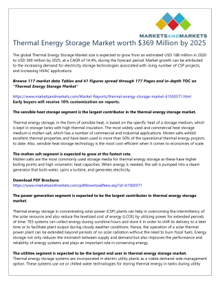 Thermal Energy Storage Market worth $369 Million by 2025