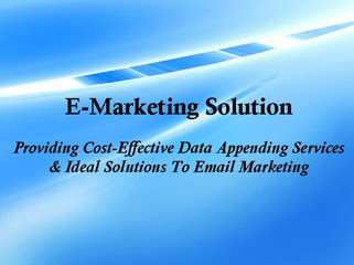 E-Marketing Solution