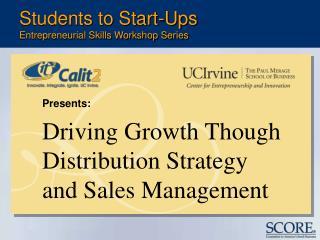 Students to Start-Ups Entrepreneurial Skills Workshop Series